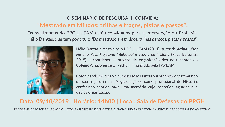 AULA ESPECIAL: SEMINÁRIO DE PESQUISA III